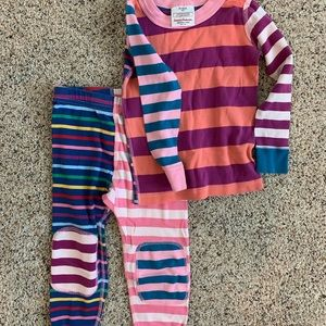 Hanna Andersson multicolored striped girls pajamas